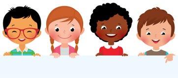 Bambini ed insegna Immagini Stock
