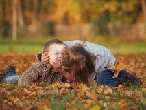 Bambini esterni Fotografia Stock