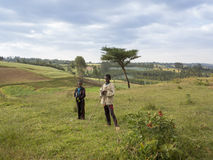 Bambini etiopici dell'azienda agricola Immagini Stock Libere da Diritti