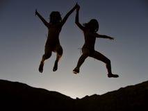 Bambini euforici 1 Fotografia Stock