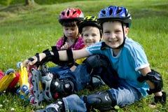 Bambini felici Fotografia Stock
