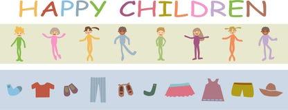 Bambini felici illustrazione di stock