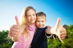 Bambini felici ad estate Fotografie Stock Libere da Diritti