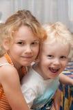 Bambini felici dell'interno Fotografia Stock