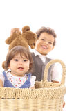 Bambini felici dell'orsacchiotto fotografia stock