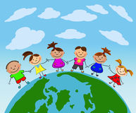 Bambini felici di vettore Fotografia Stock Libera da Diritti