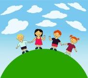 Bambini felici di vettore Fotografia Stock