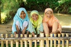Bambini felici esterni Immagine Stock Libera da Diritti