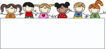 Bambini felici etnici misti Immagini Stock Libere da Diritti