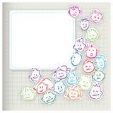 Bambini felici - icone cartoony delle teste Immagini Stock