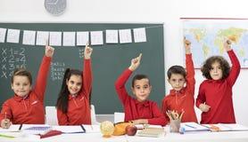 Bambini felici nel codice categoria Immagine Stock Libera da Diritti