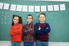 Bambini felici nel codice categoria Fotografie Stock