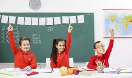 Bambini felici nel codice categoria Fotografie Stock Libere da Diritti