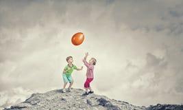 Bambini felici trascurati Fotografia Stock Libera da Diritti