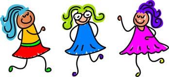 Bambini Funky illustrazione vettoriale