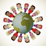 Bambini globali Fotografia Stock