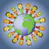 Bambini globali Fotografie Stock