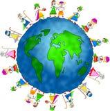 Bambini globali di natività Fotografie Stock Libere da Diritti