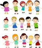 Bambini impostati Immagine Stock