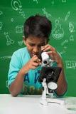 Bambini indiani e scienza Immagini Stock