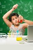 Bambini indiani e scienza Immagine Stock Libera da Diritti