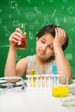 Bambini indiani e scienza Immagine Stock