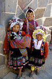 Bambini indigeni, Pisac, Perù Fotografie Stock