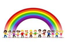 Bambini intorno al mondo Immagini Stock Libere da Diritti