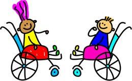 Bambini invalidi illustrazione di stock