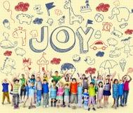 Bambini Joy Happy Child Concept dei bambini Immagini Stock