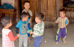 Bambini laotiani del hmong Fotografia Stock