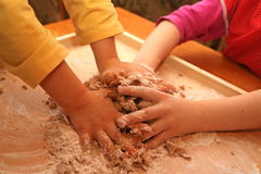 Bambini lavoranti duri Immagine Stock Libera da Diritti