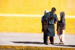 Bambini locali alle vie di San Cristobal de Las Casas, Messico Fotografie Stock