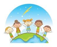 Bambini multiculturali Immagine Stock