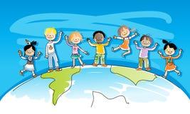 Bambini Multiracial Fotografia Stock Libera da Diritti