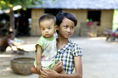 Bambini Myanmar Birmania Immagine Stock Libera da Diritti