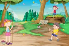 Bambini in natura illustrazione di stock
