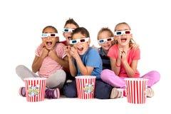 Bambini nei film Fotografie Stock Libere da Diritti