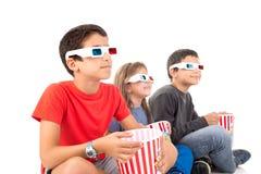 Bambini nei film Fotografia Stock Libera da Diritti