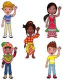 Bambini nel mondo. Fotografia Stock Libera da Diritti