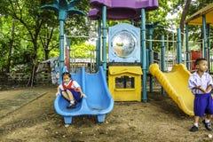 bambini nel playgruond Immagine Stock Libera da Diritti