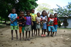 Bambini nel Vanuatu Fotografie Stock