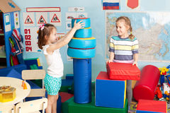 Bambini nell'asilo Fotografie Stock