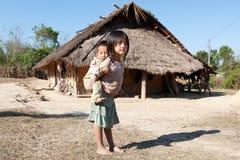 Bambini nella povertà Fotografia Stock