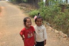 Bambini nepalesi sorridenti immagini stock