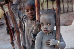Bambini non identificati di Himbas Immagini Stock