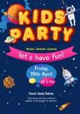 Bambini, partito, vettore, fondo, illustrazione, divertimento, compleanno, progettazione, circo, insegna, fumetto, felice, zona,  illustrazione di stock