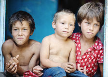 Bambini poveri Immagini Stock