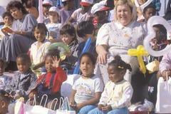 Bambini prescolari ed i loro insegnanti Immagini Stock Libere da Diritti
