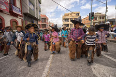 Bambini quechua indigeni nell'Ecuador Fotografie Stock